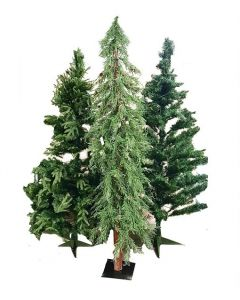 Pallet of 6 Various Size Christmas Trees