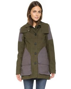 Hunter Ladies Wax Hunting Coat Green/Slate UK6