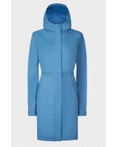 Hunter Ladies Packable Drawstring Coat Blue M