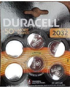 Duracell 2032 Lithium Coin Battery 6 x 6pk
