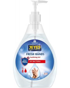 Jeyes Fresh Hands Sanitising Gel 6x480ml