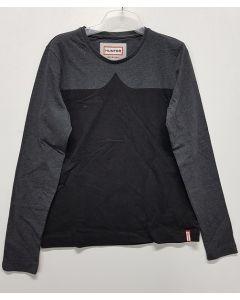 Hunter Ladies Long Sleeve Tee Grey/Black M