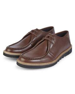 Kickers Mens Kwamie Lo Mocc Shoes Dark Brown EU40