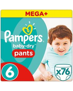 Pampers Baby Dry Pants Size 6 76pk