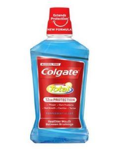 Colgate Total 12hr Zero Alcohol Mouthwash 6 x500ml