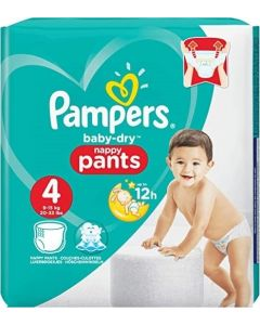 Pampers Baby Dry Nappy Pants Size 4 74pk