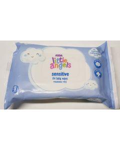 Asda Little Angels Sensitive Wipes 64 x 12pk
