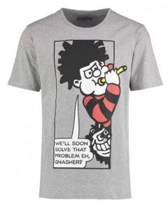 Beano Adult Solve That Problem T Shirt Grey Large