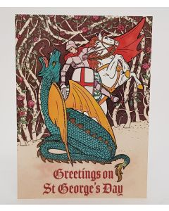 St George's Day Greetings Card 5pk