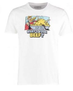 Dandy Adult Whats Your Beef T Shirt White Medium