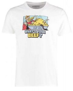 Dandy Adult Whats Your Beef T Shirt White  XXLarge