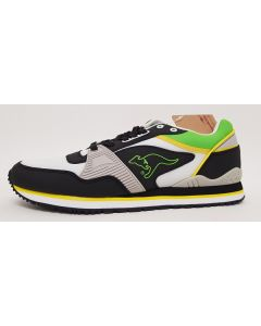 KangaRoos Mens Shield OG Grey/Blk Trainers UK 7.5