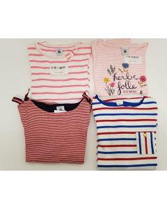 Petit Bateau Girls T Shirts Age 6 Yrs 6pk