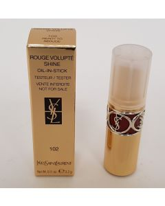 YSL Rouge Volupté Shine Tester Lipstick Shade 102