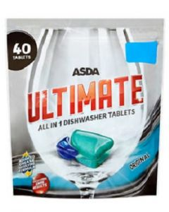 ASDA Ultimate All in 1 Dishwasher Tablets 8x40pk