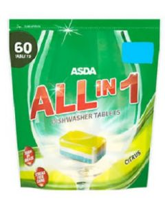 ASDA All in 1 Citrus Dishwasher Tablets 8x60pk