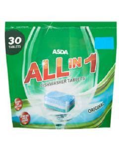 ASDA All in 1 Original Dishwasher Tablets 7x30pk