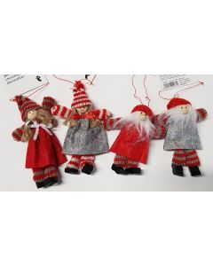 Tiger Male & Female Christmas Decorations 48pk