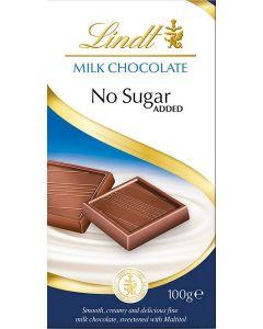 Lindt Chocolate No Sugar Added 16x100g (BB 31 Jul)