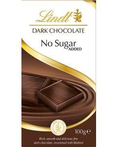 Lindt Dark Chocolate No Sugar Added  16 x 100g