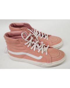 Vans Unisex Hi Top Pink/White Suede EU37