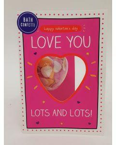 Bath Confetti Valentines Card 48pk