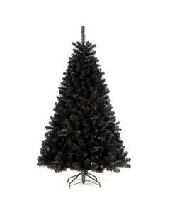 Black Unlit 7.5' Christmas Tree