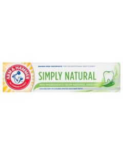 Arm & Hammer Simply Natural Toothpaste 12x75ml