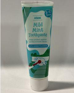 Asda Mild Mint Toothpaste 3-6 Years 12 x 75ml