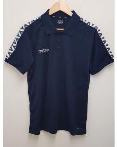 "Mitre Delta Adult Polo Shirt Navy Small 34/36"""
