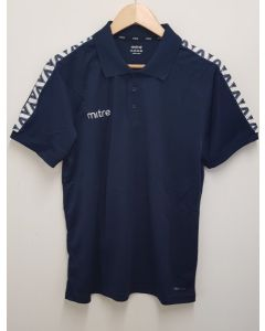 """Mitre Delta Adult Polo Shirt Navy Large 42/44"""""""