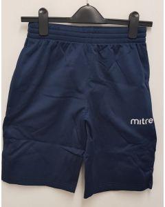 "Mitre Adult Primero Poly Short Navy XSmall 28/30"""