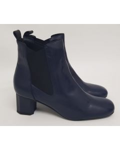 52 Degrees Heeled Chelsea Boot Blue Leather UK3