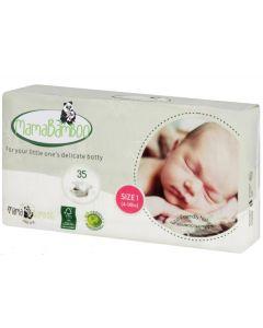 Mama Bamboo Eco Nappies Size 1 New Born 4 x 35pk