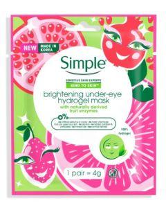 Simple Brightening Under Eye Hydrogel Mask 40pk