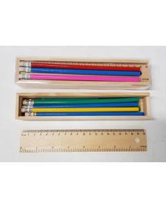 Tiger Wooden Pencil Case 24pk