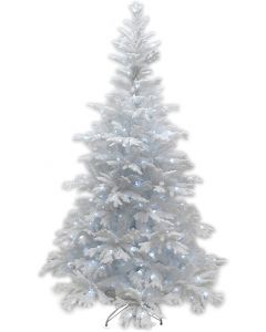 6ft Pre-Lit Bavarian Pine White Christmas Tree
