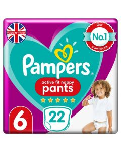 Pampers Active Fit Nappy Pants Size 6 22pk