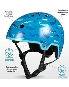 Micro Childrens Boys Helmet 55-58cm Medium