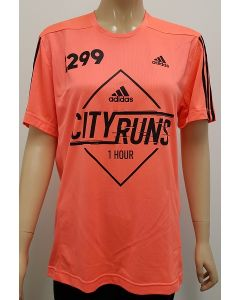 Adidas City Runs Event T Shirt Orange Small 40pk