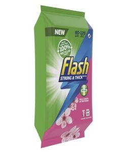 Flash Anti-Bacterial Large Wipes 4 x 60pk