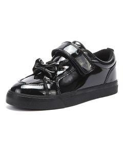 Kickers Tovni Bow Strap Patent Black EU35