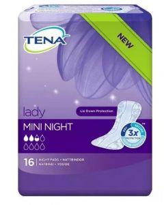 Tena Lady Mini Night Pads 10 x 16pk