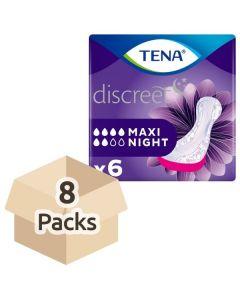 TENA Discreet Maxi Night Pads 8 x 6pk