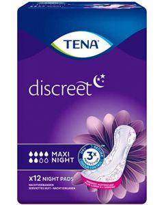 TENA Discreet Maxi Night Pads 6 x 12pk