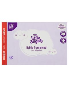 Asda Little Angels Fragranced Baby Wipes 12 x 64pk