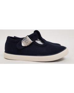 Seconds StartRite Treasure Navy Canvas Shoe UK 9