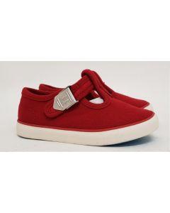 Seconds StartRite Treasure Red Canvas Shoe UK 7.5