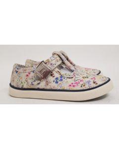 Seconds StartRite Summer Cream Canvas Shoe UK 7