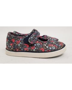 Seconds StartRite Blossom Navy Canvas Shoe UK10.5